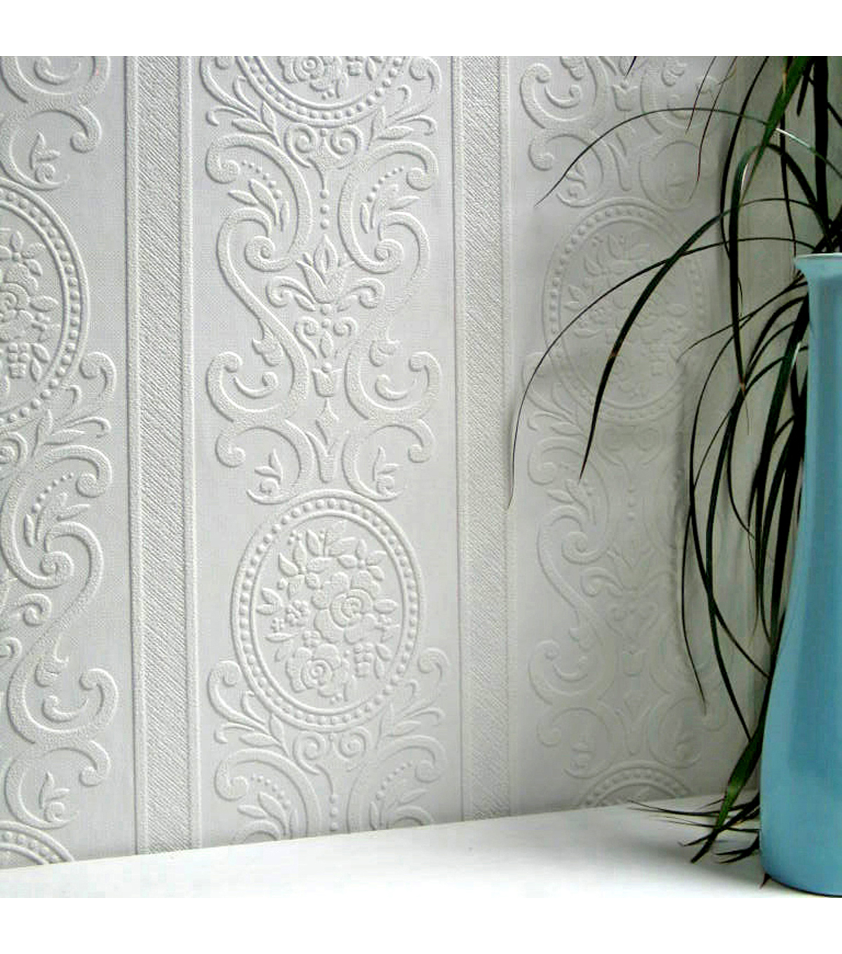 Louisa Paintable Textured Vinyl Wallpaper