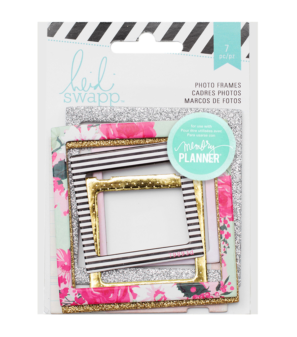 Heidi Swapp Hello Beautiful Embellishments 7/Pkg-Photo Frames