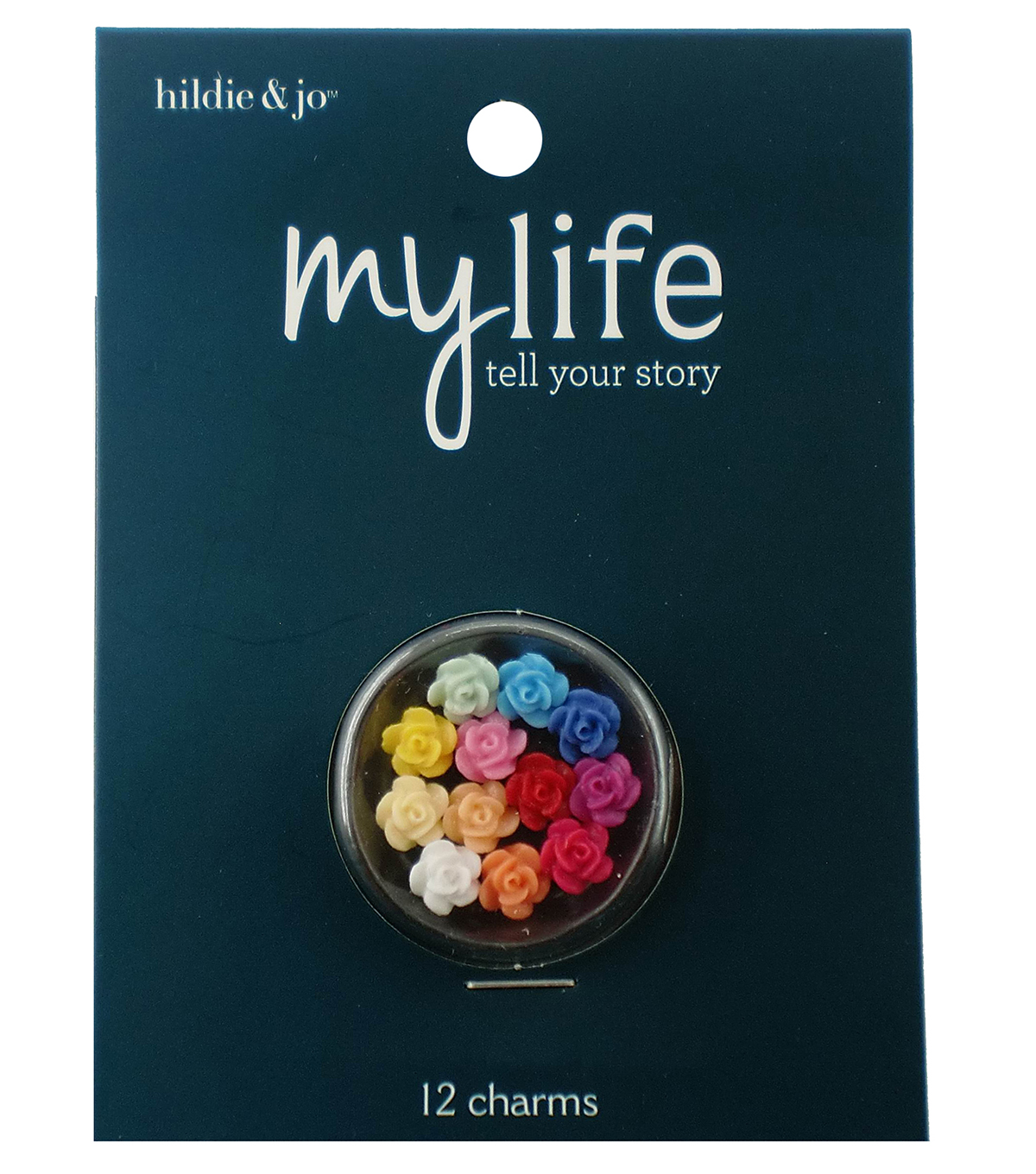 hildie & jo™ My Life 12 Pack Mini Flower Locket Charms-Multi Color