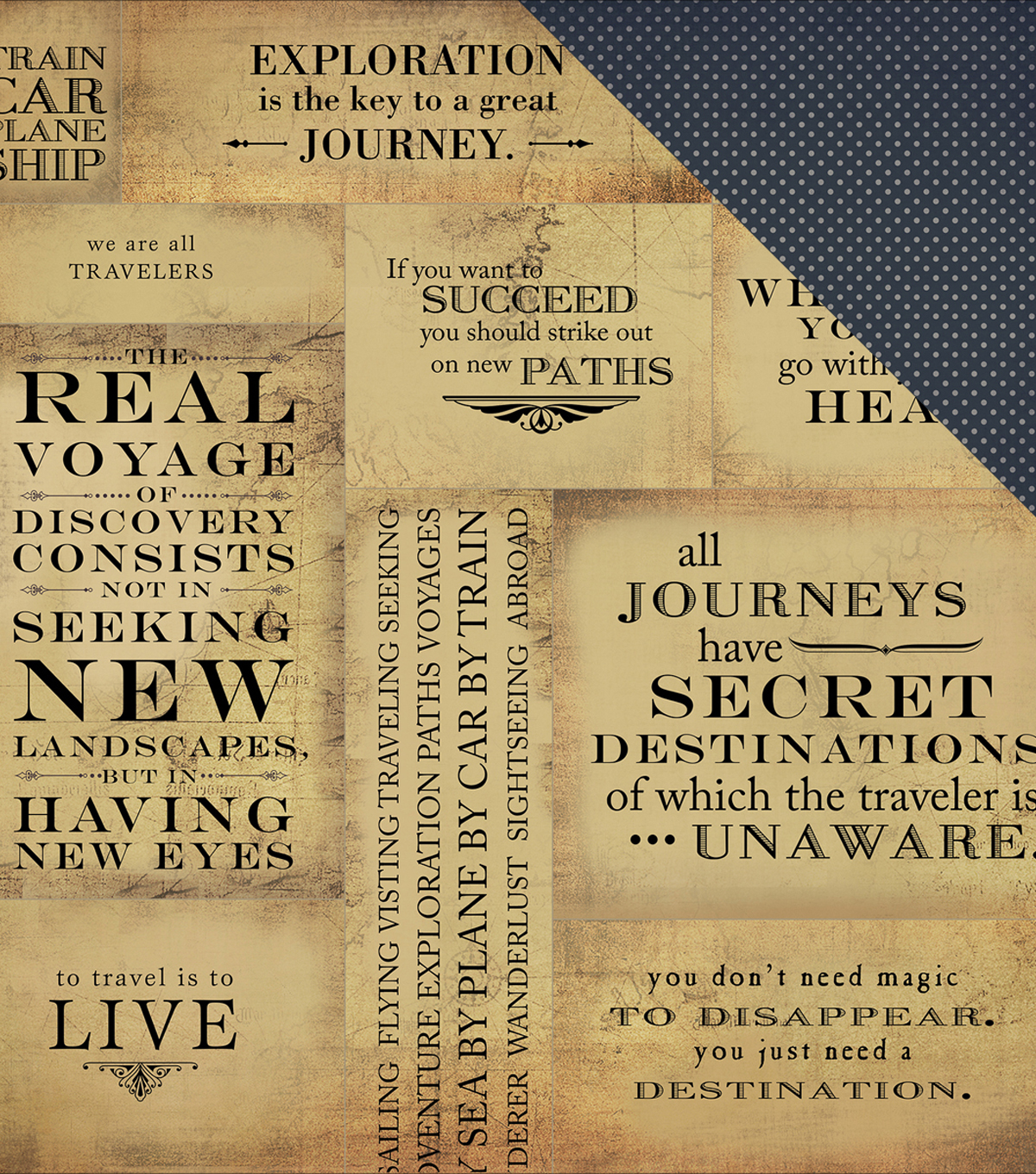"Transatlantic Travel Double-Sided Cardstock 12""X12""-Journey"