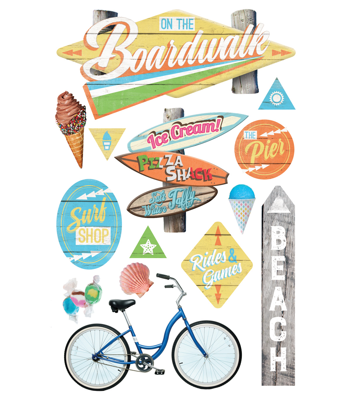 Paper House® 3D Stickers-Boardwalk & Beach