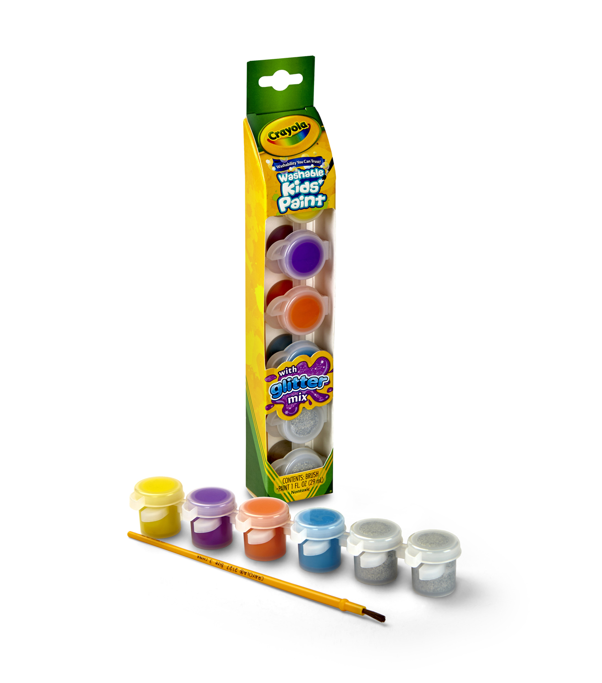 Crayola® 6ct Washable Kids™ Paint with Pearl Special Effects