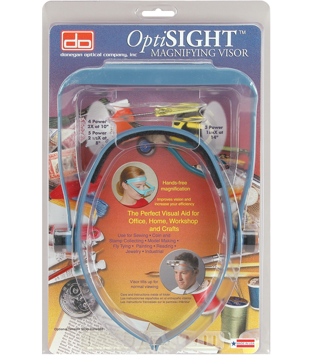 Donegan OptiSIGHT Magnifying Visor-Blue