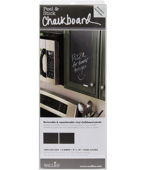Wallies 9\u0022x12\u0022 Pell-n-Stick Chalkboard Panels-2PK