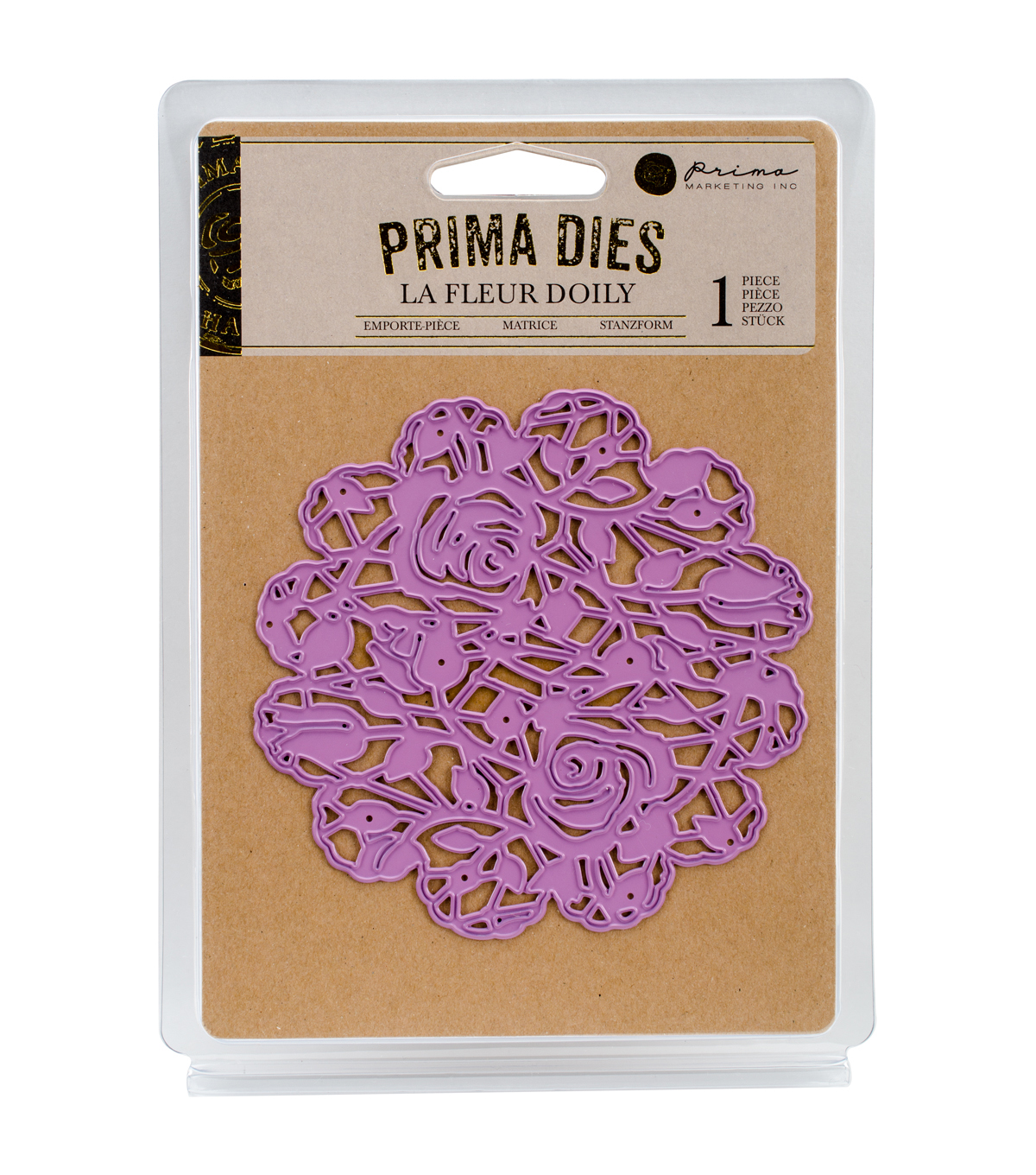 Prima Marketing Purple Metal Die-La Fleur Doily