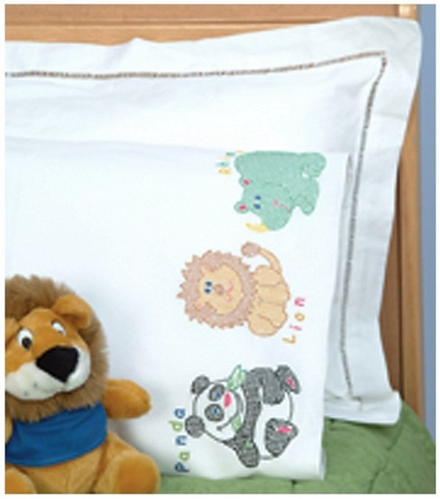 Jack Dempsey Children\u0027s Stamped Pillowcase-Children\u0027s Zoo