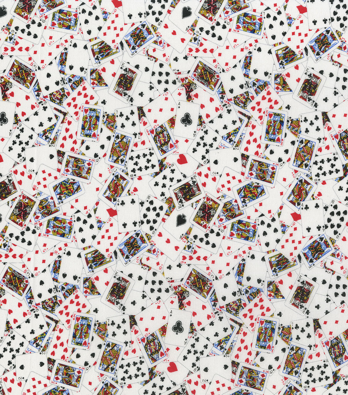 Novelty Cotton Fabric 44\u0027\u0027-Packed Playing Cards