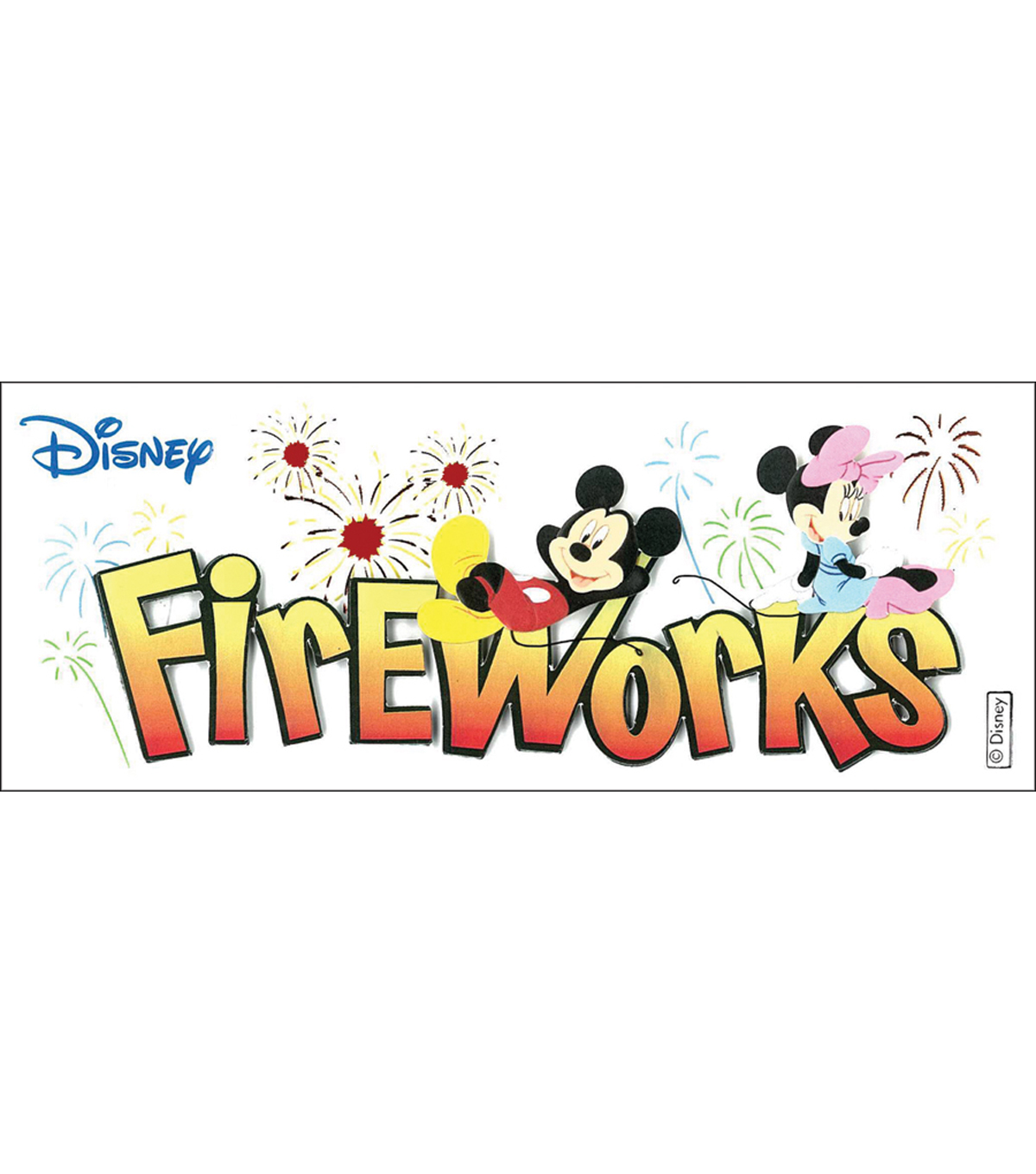 Disney® Title Dimensional Stickers-Mickey-Fireworks