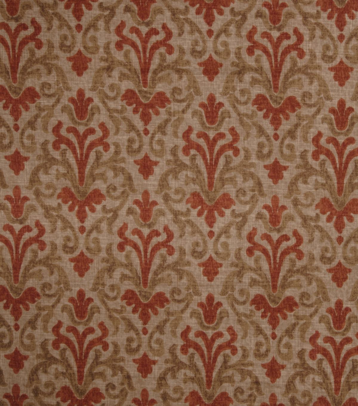 Home Decor 8\u0022x8\u0022 Fabric Swatch-Jaclyn Smith Cider  Terra Cotta