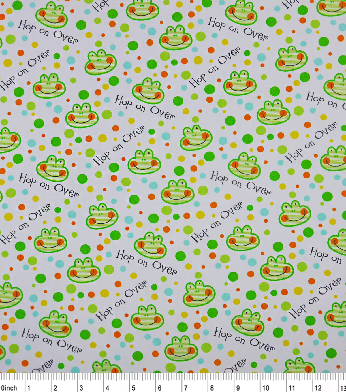 "Nursery Cotton Fabric 43""-Happy Jungle Hop Oover"