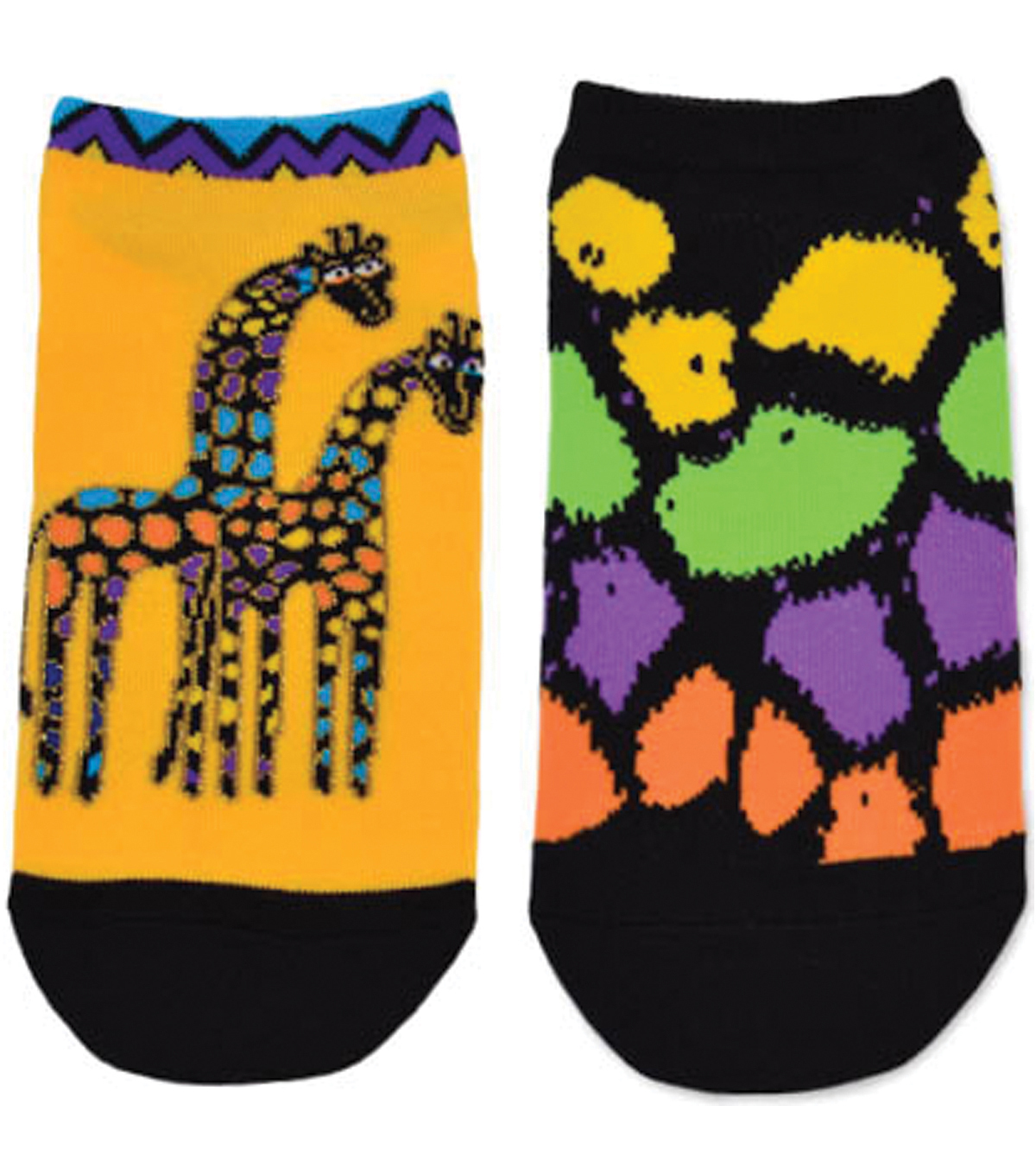 Laurel Burch Socks 2/Pair-Giraffes