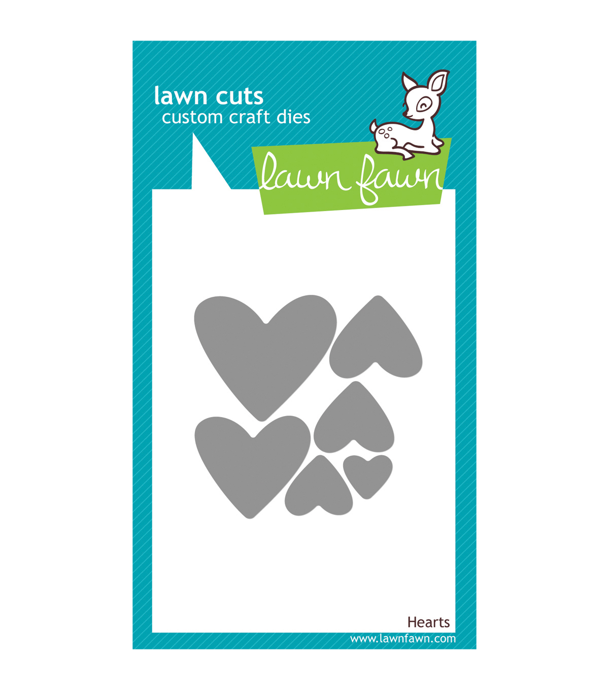 Lawn Fawn Lawn Cuts Custom Craft Die-Hearts
