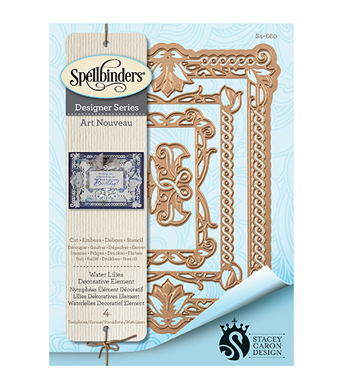 Spellbinders Nestabilities Decorative Elements Die-Waterlilies Element
