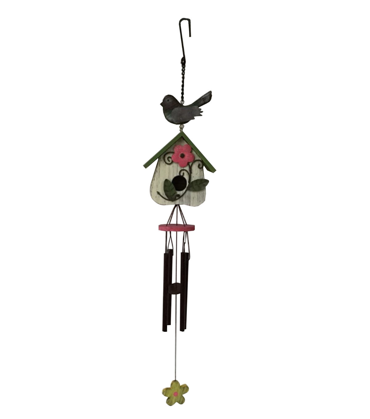 Wild Blooms Small Spring Birdhouse Wind Chime
