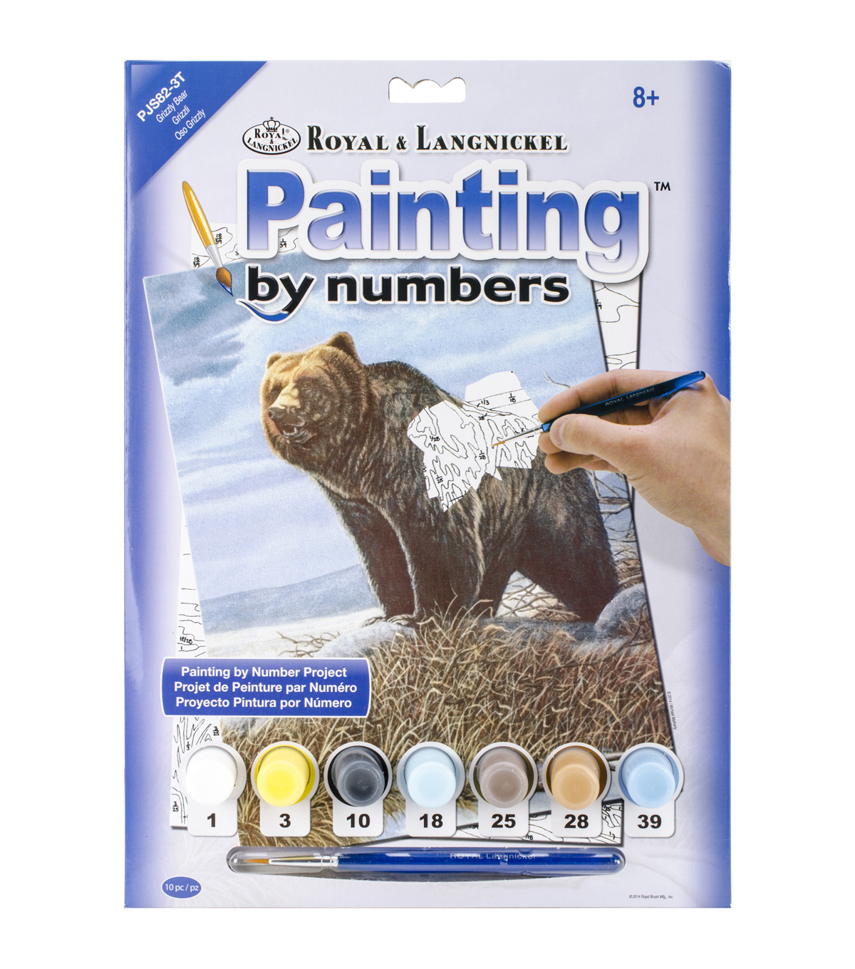 Royal Langnickel Grizzly Bear Junior Small Paint By Number Kit