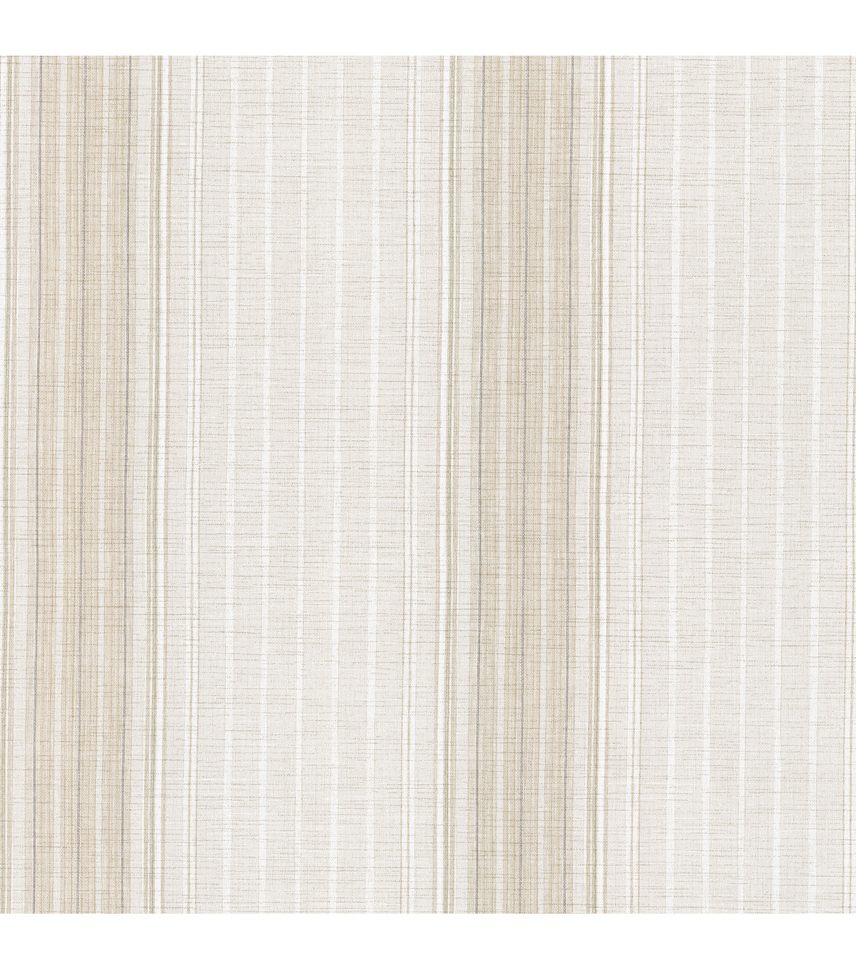 Natuche Light Grey Linen Stripe Wallpaper