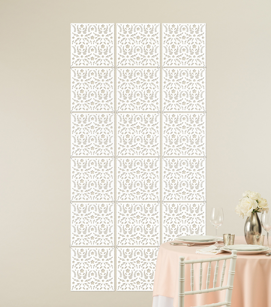 Save The Date™ Die Cut Backdrop-White