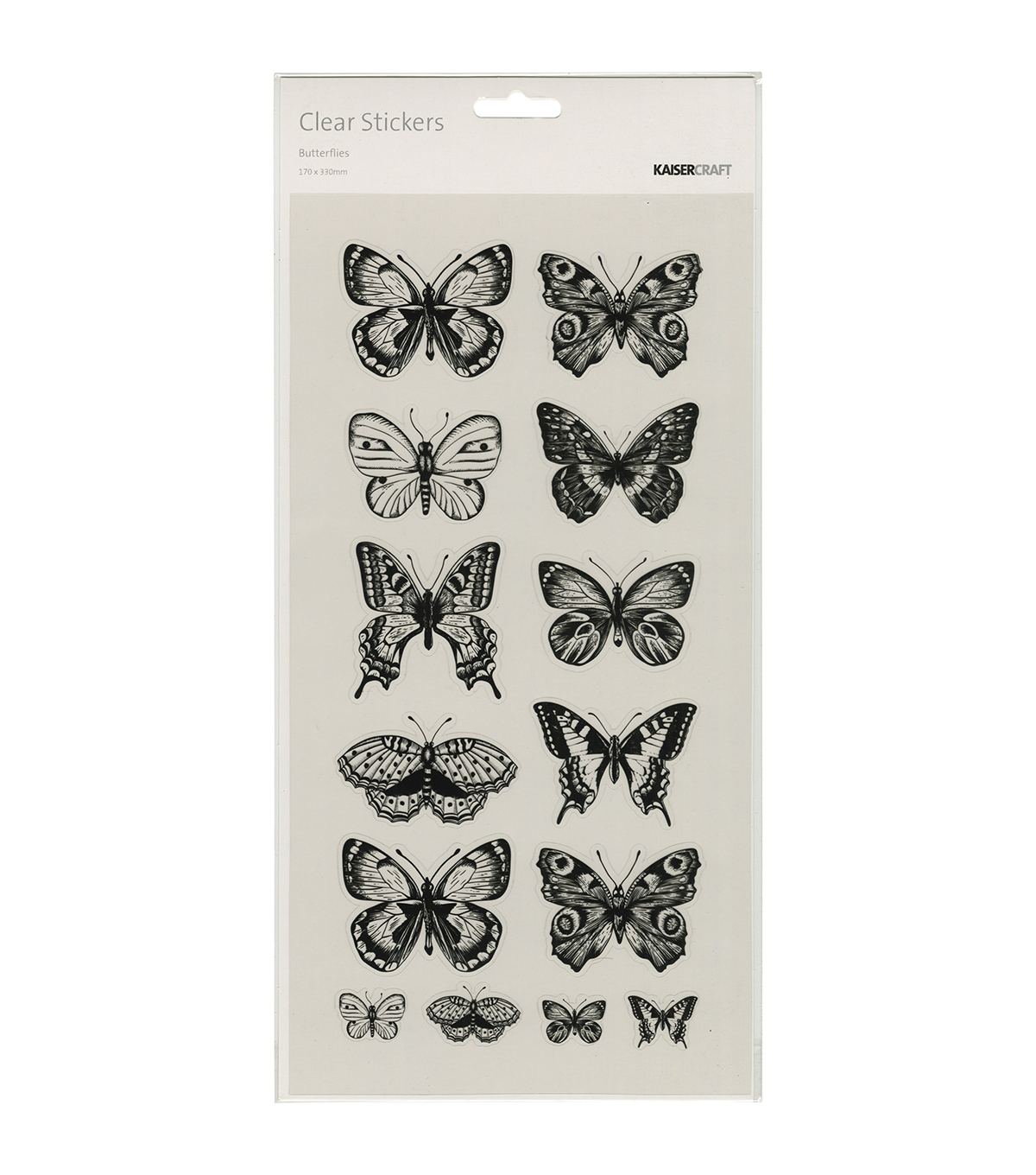 Kaisercraft Butterflies Clear Stickers