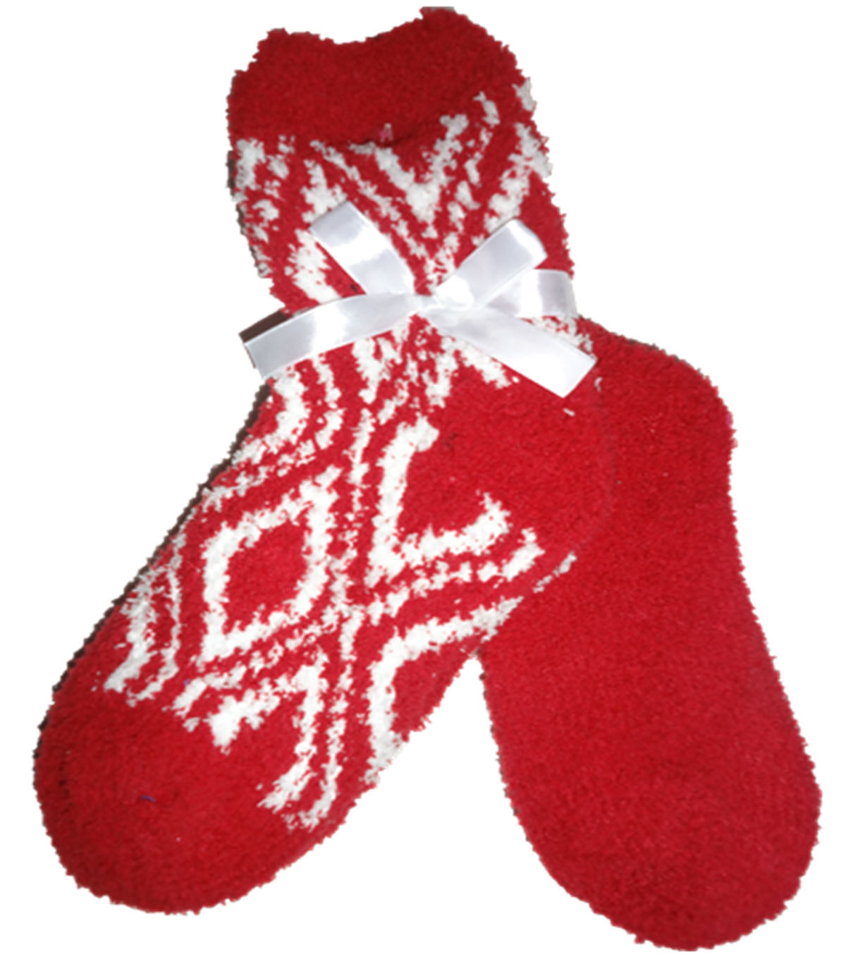 Diamond Red & White Tactile Sock