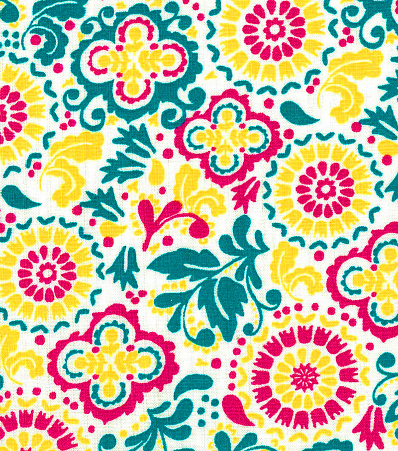 Quilter\u0027s Showcase™ Fabric 43\u0027\u0027-Capri Breeze Floral & Medallion