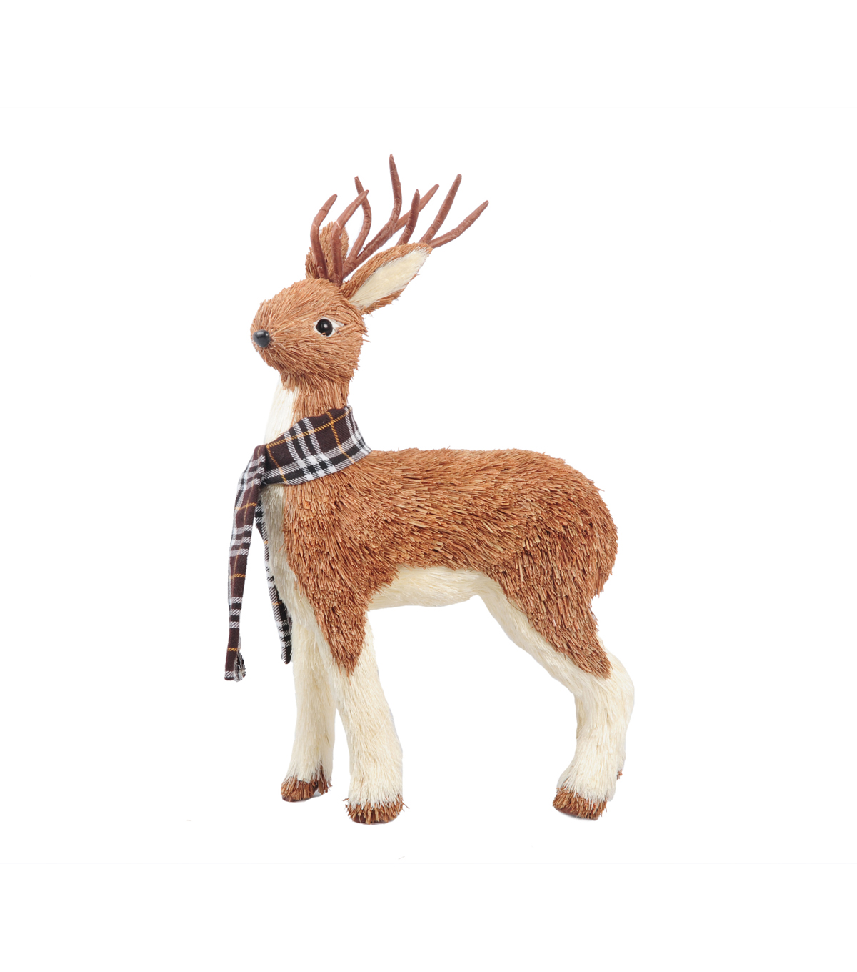 Blooming Autumn Large Sisal Grass Deer With Scarf