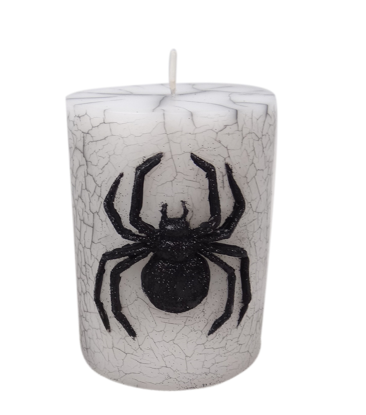 Maker's Halloween 3''x4'' Pillar Candle-Black Spider Icon