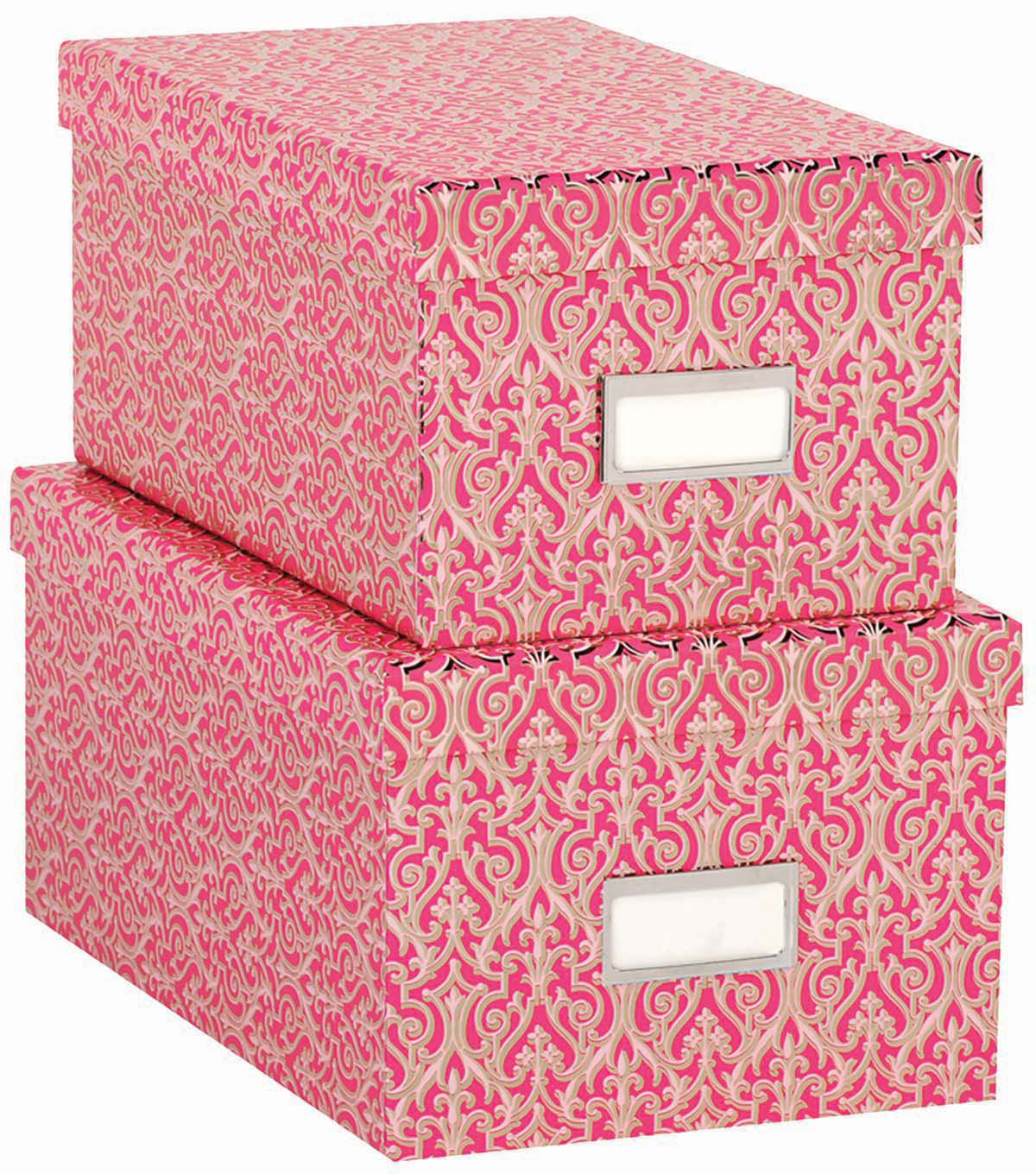 Anna Griffin Pink Solid Set Of Nesting Boxes