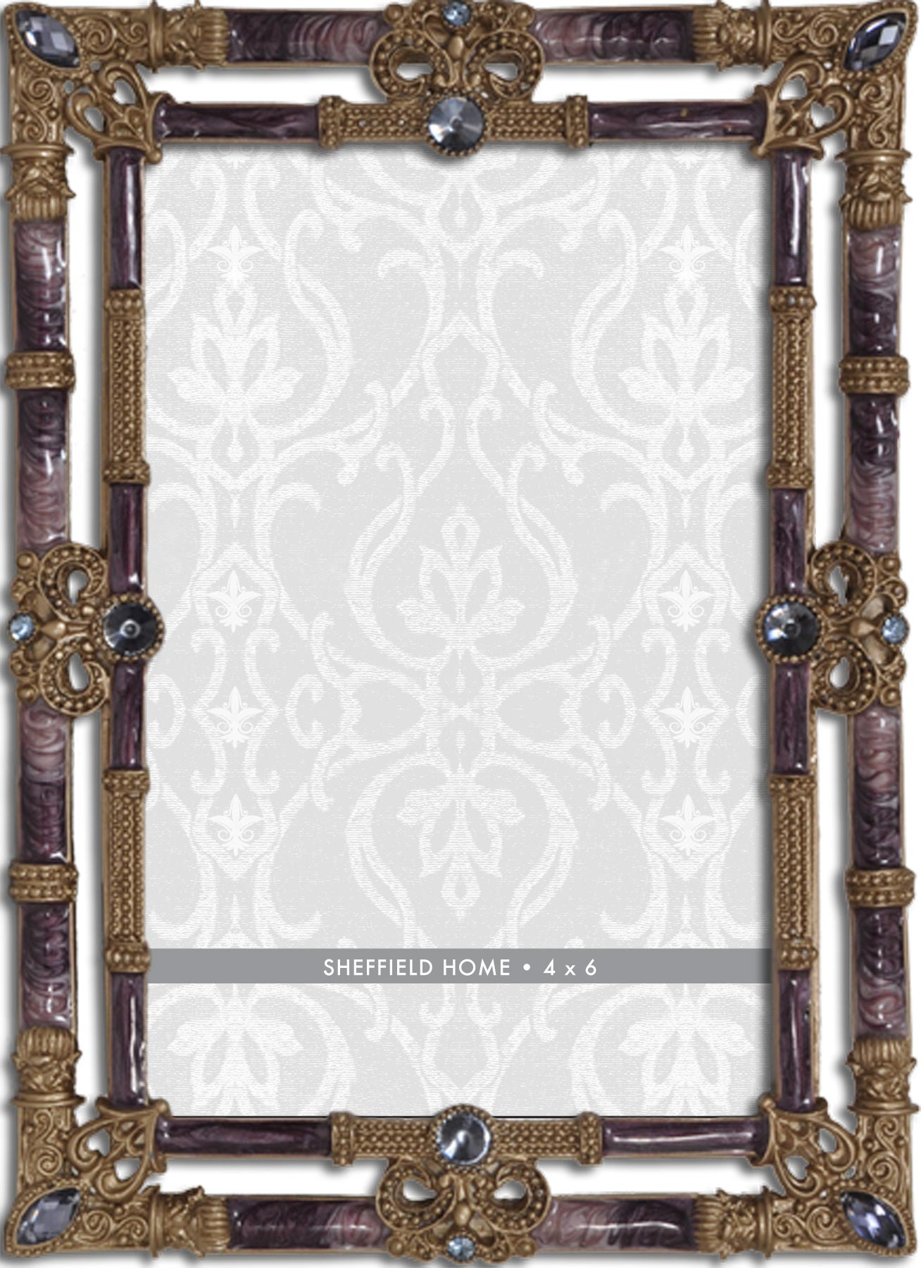 Tabletop Frame 4X6-Double Border Purple Jewel