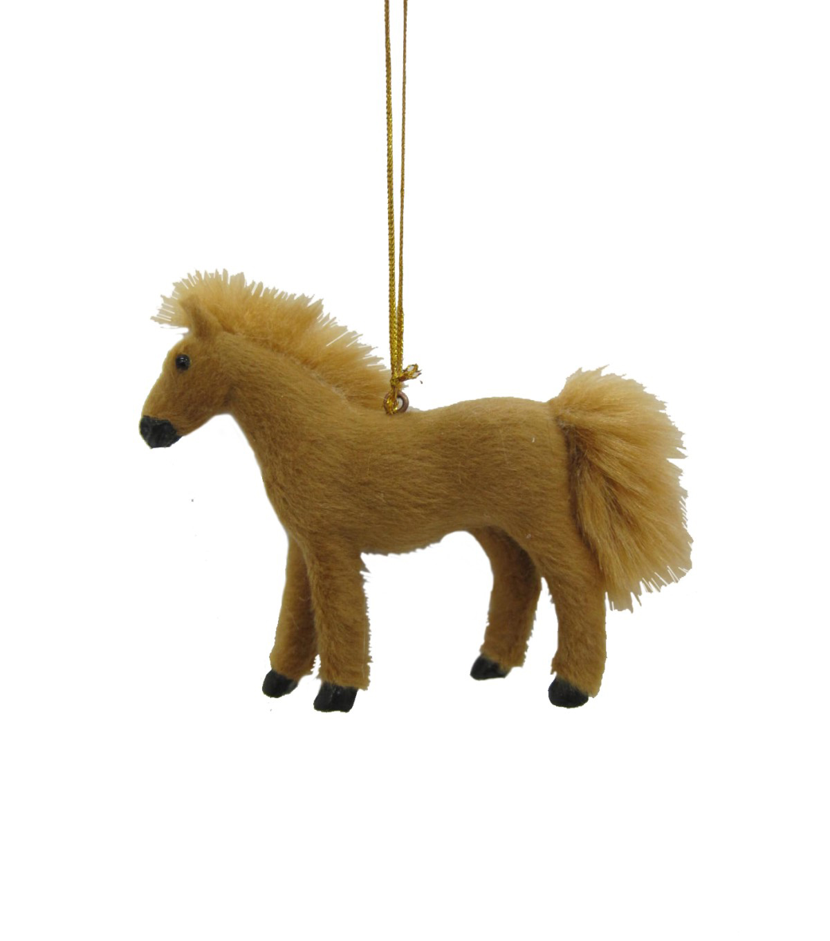 Maker's Holiday Christmas Fur Horse Ornament