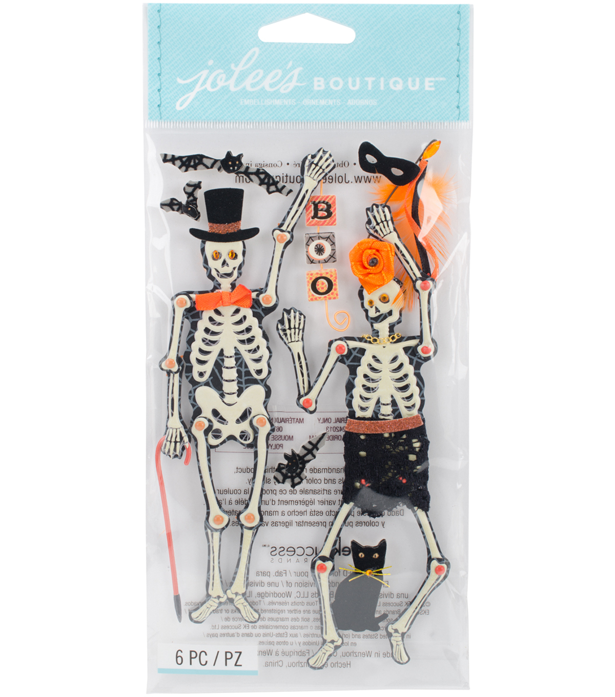 Jolee\u0027s Boutique Dimensional Stickers-Moveable Skeletons
