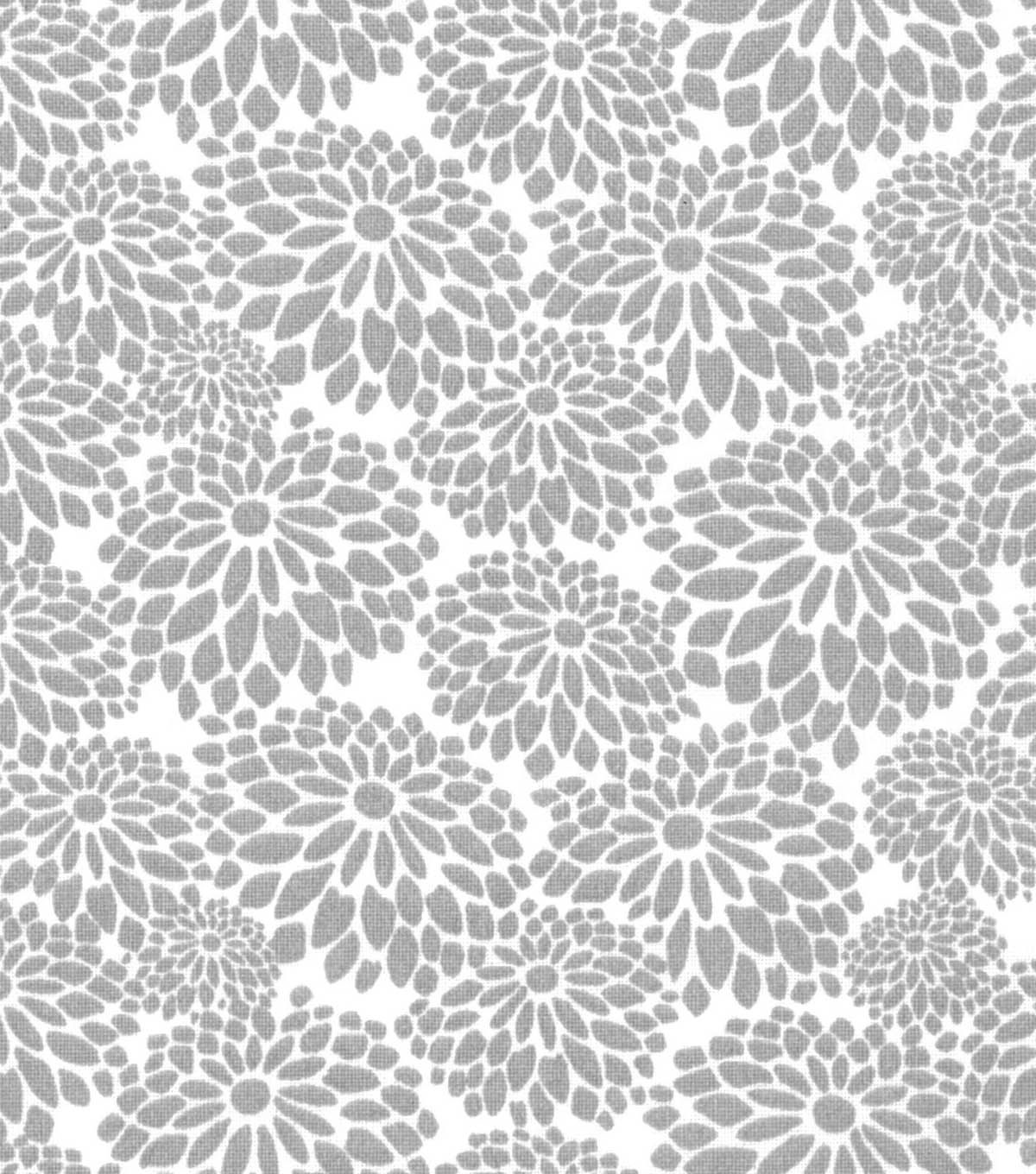 Quilter's Showcase™ Fabric 44''-Light Gray Mum Floral