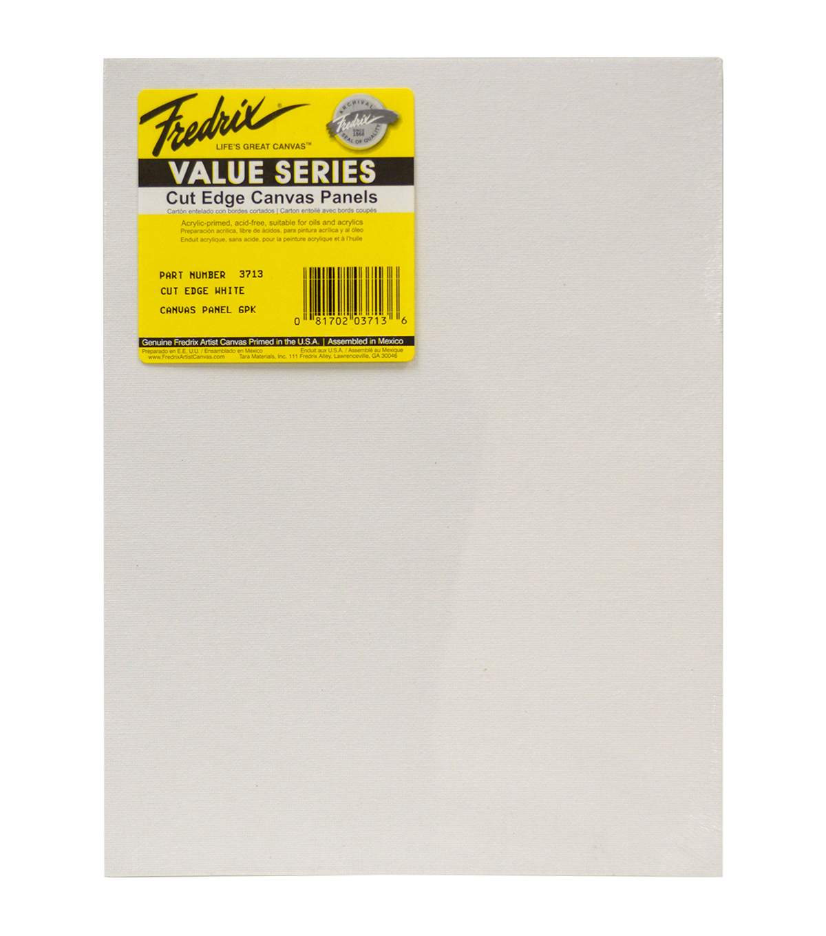 Tara Fredrix Cut Edge Canvas Panel 6/Pkg-9\u0022X12\u0022