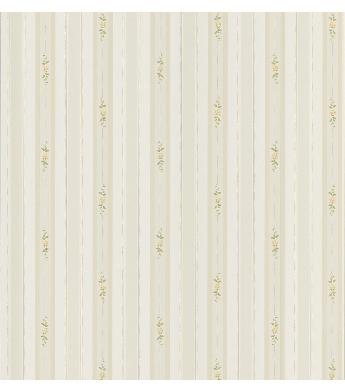Rosebud Light Green Floral Stripe Wallpaper Sample