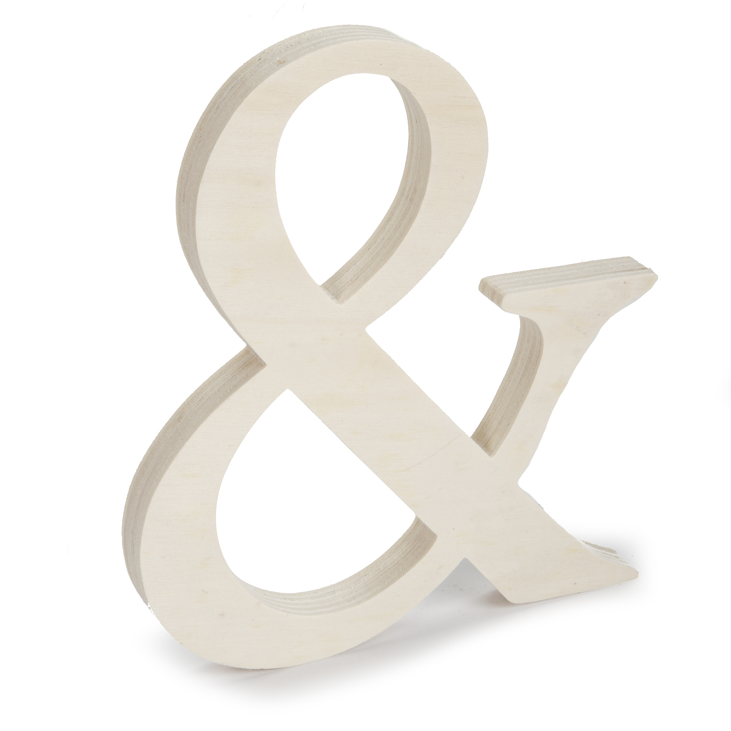 Fancy Unfinished Wood Letter Ampersand Symbol, 7-1/2 inches