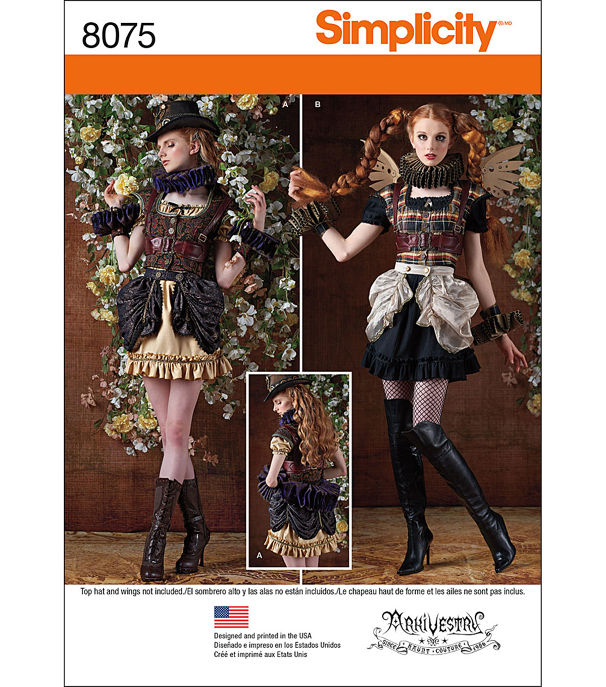 Simplicity Misses\u0027 Steampunk Costumes-6-8-10-12-14