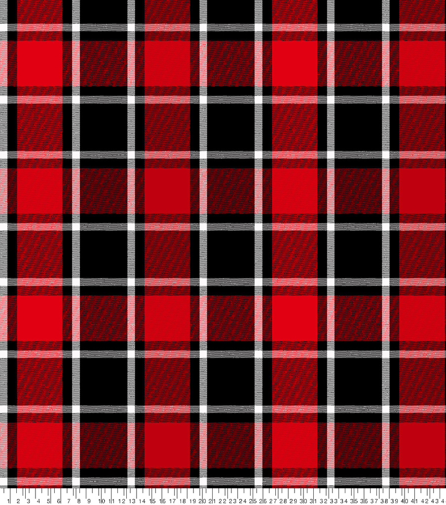 Blizzard Fleece Fabric 59\u0022-Bruno Red Black