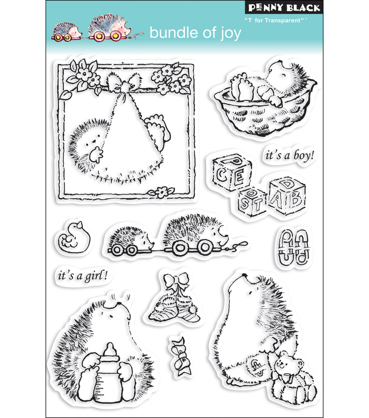 Penny Black Clear Stamps 5\u0022X7.5\u0022 Sheet-Bundle Of Joy