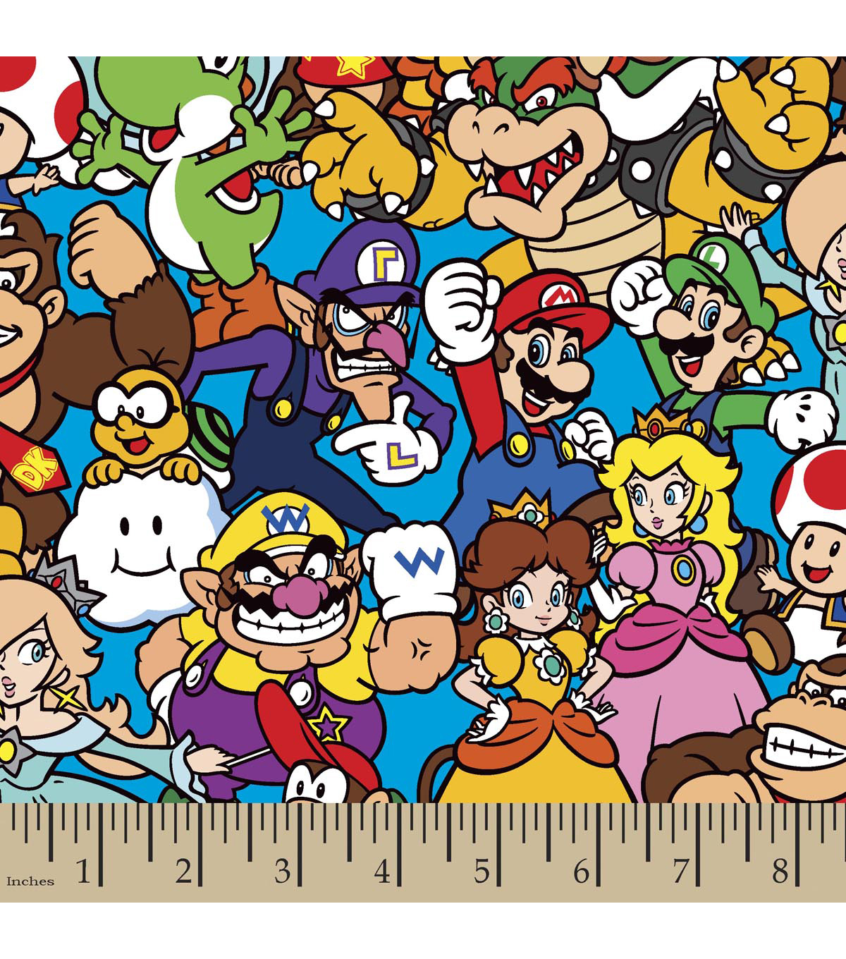 Nintendo® Super Mario Brothers™ Cotton Fabric 43\u0022-Packed Characters