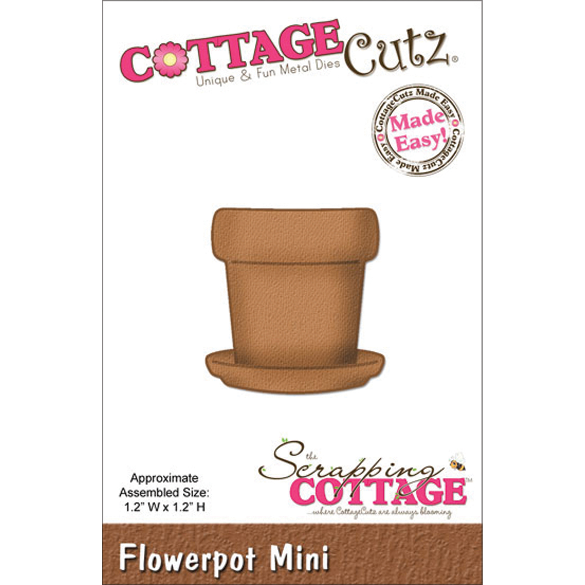 CottageCutz Mini Die Flower Pot