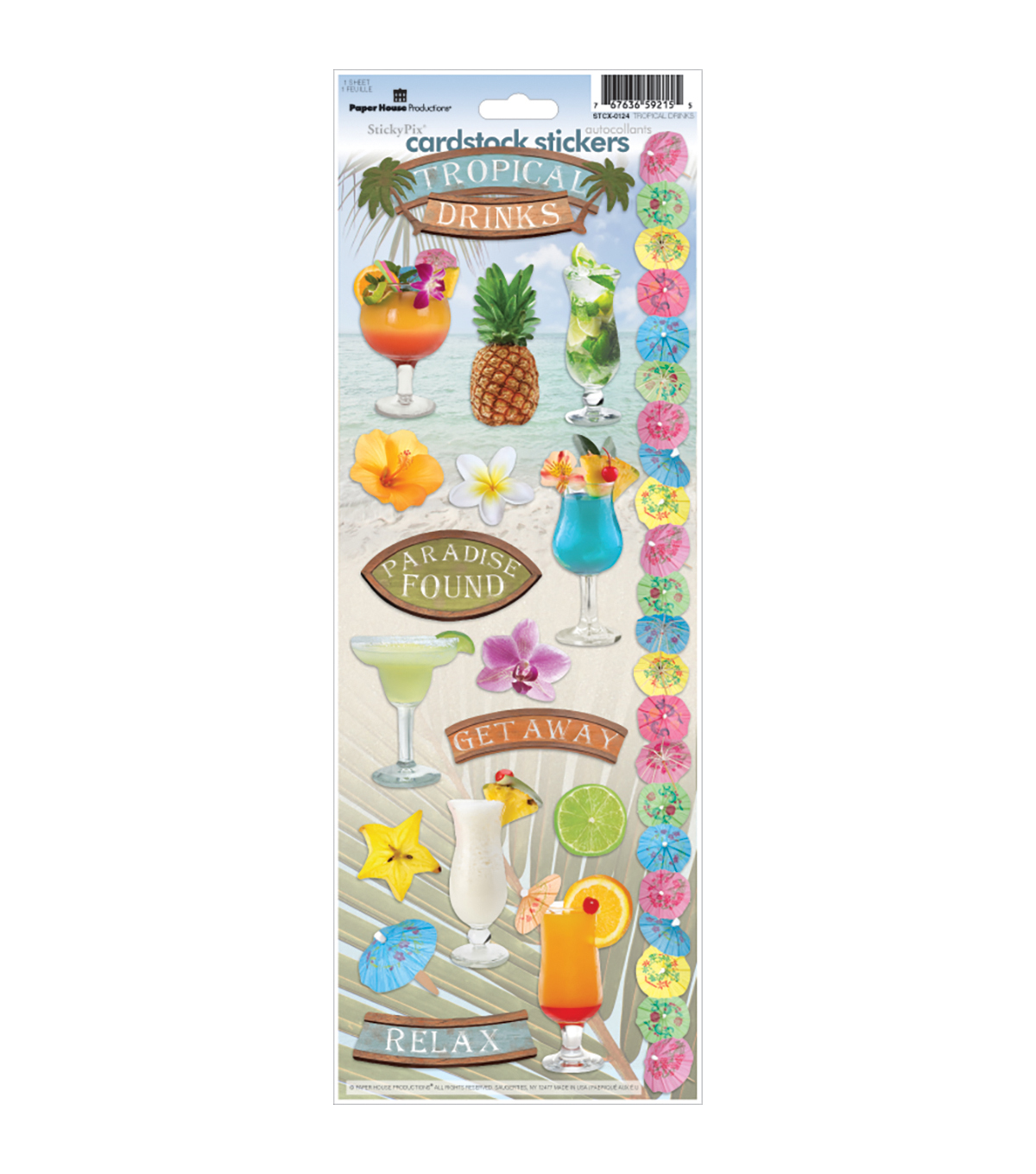 Trop Drink-cardstock Stickers