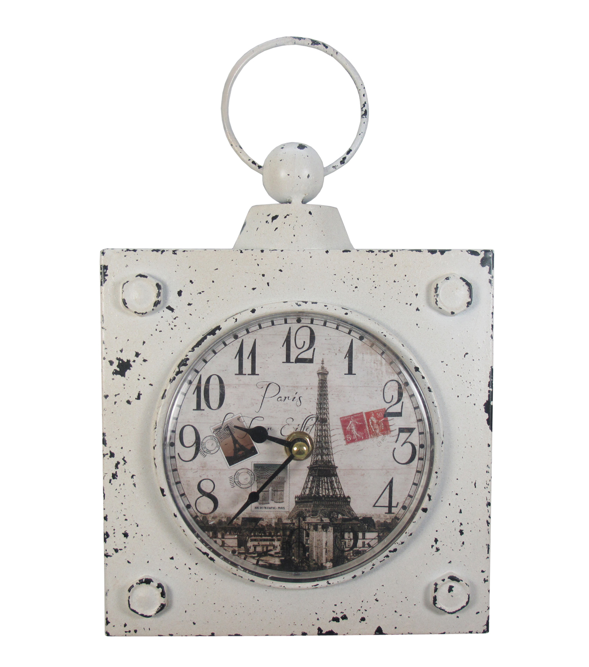 Idea Market Paris Iron Table Square Clock