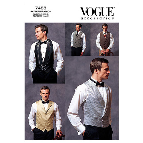 Vogue Patterns Mens Vest-V7488