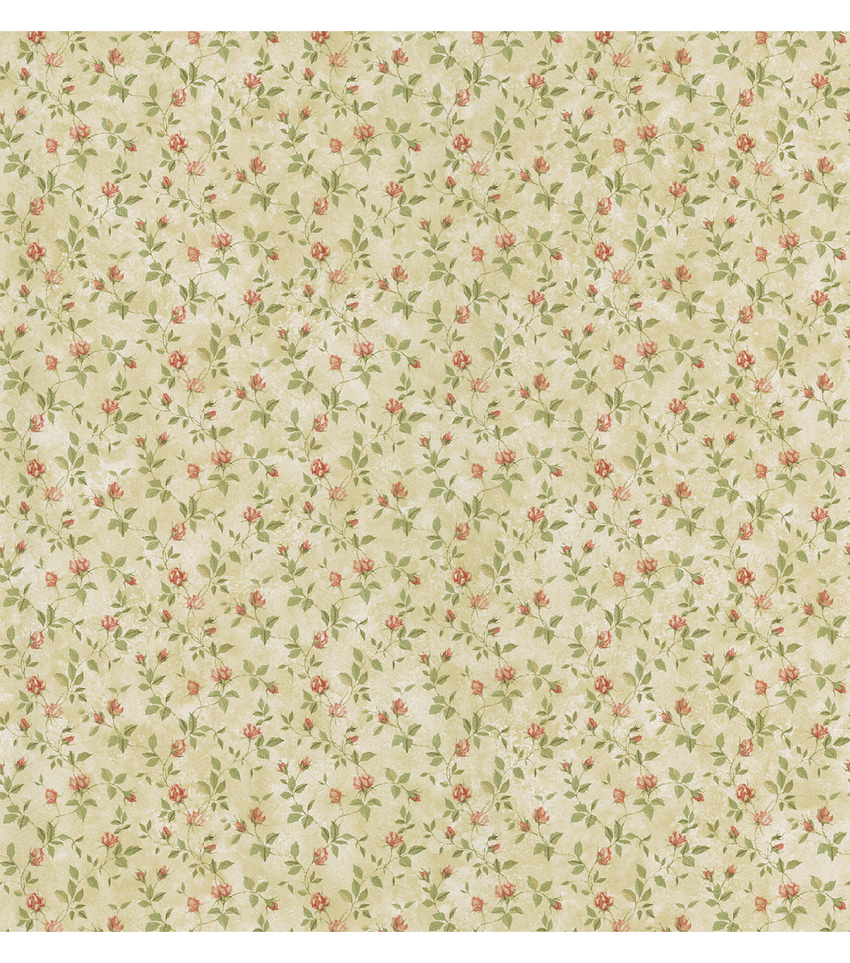 Abigail Beige Rosebud Trail Wallpaper Sample