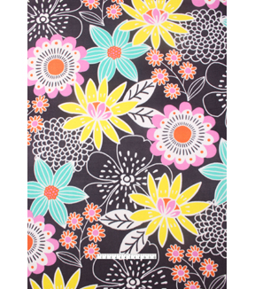 No-Sew Throw Fleece Fabric 72\u0022-Sketched Floral Print