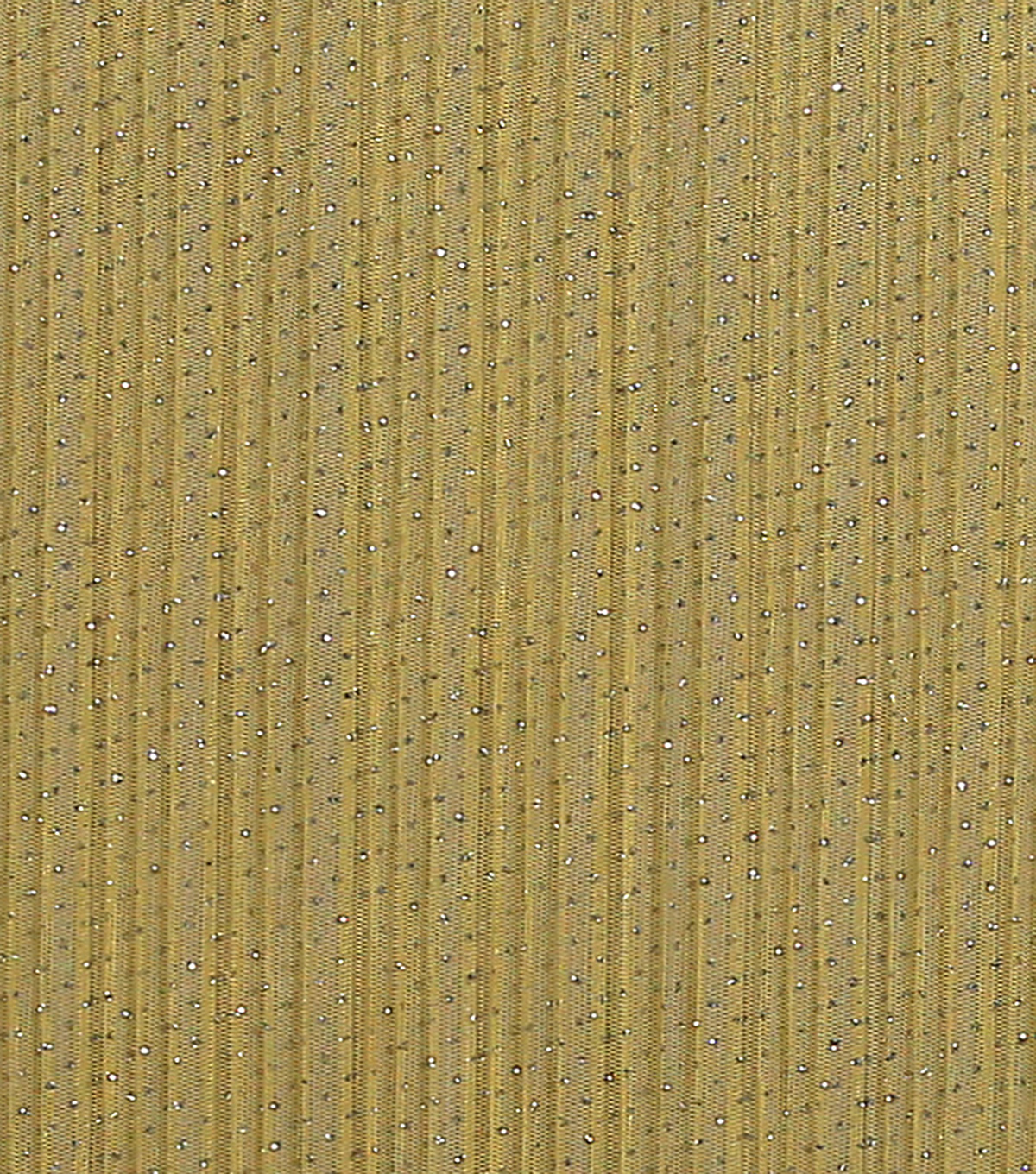 Sew Sweet Glitter Pleat Mesh Fabric 58\u0022-Golden Haze