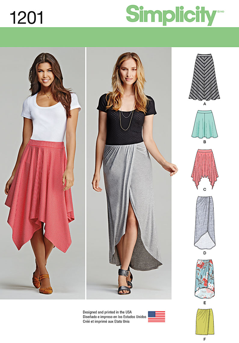 Simplicity Pattern 1201R5 14-16-18-2-Skirts & Pants