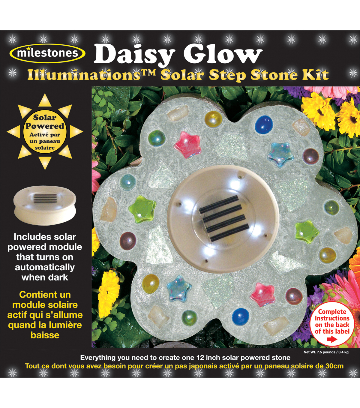 Mosaic Stepping Stone Kit-Daisy Glow Illuminations Solar