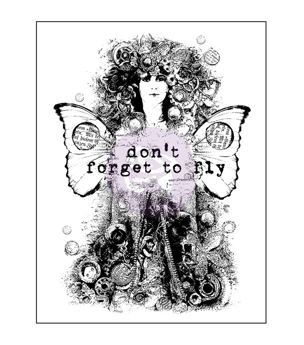 Prima Marketing Finnabair Don\u0027t Forget To Fly Wood Mounted Stamps