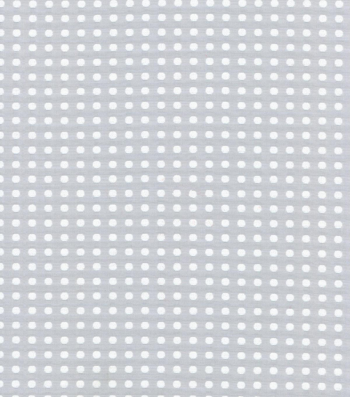 Waverly Upholstery Fabric 56\u0022-Button Up/Platinum