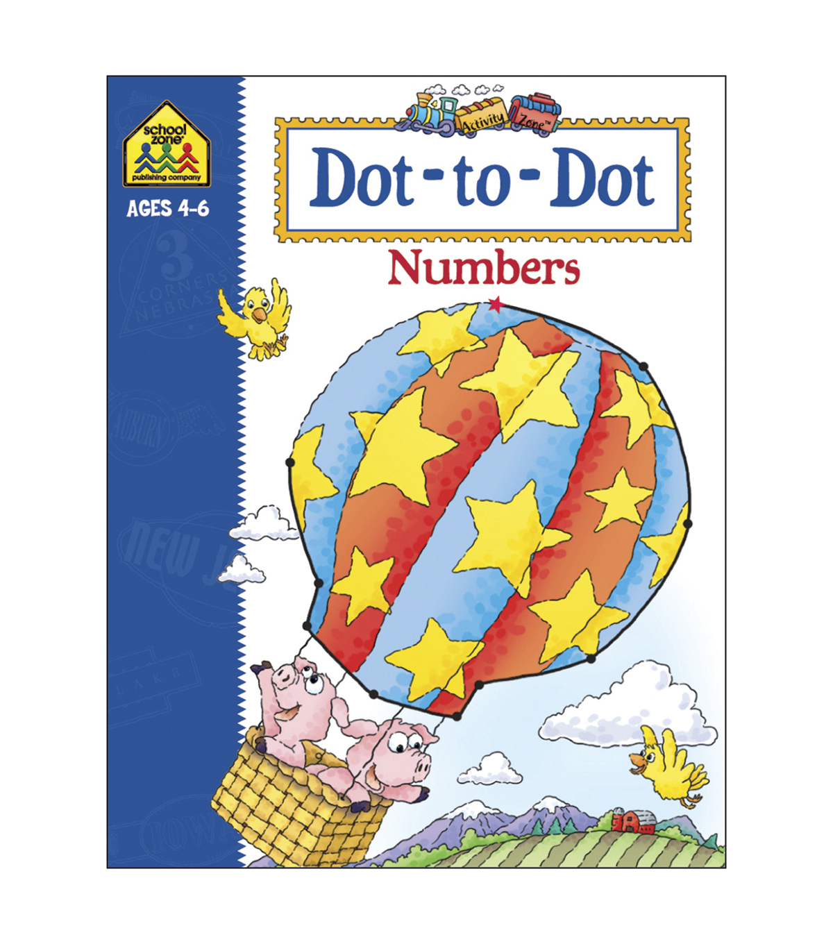 Activity Workbooks 32 Pages-Dot To Dot Numbers Ages 4-6
